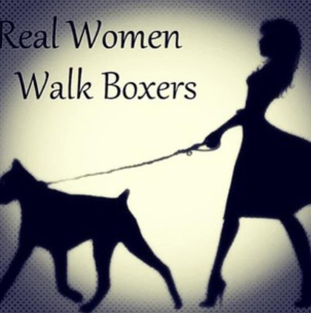Real women get dragged by their boxer....aka the same thing.