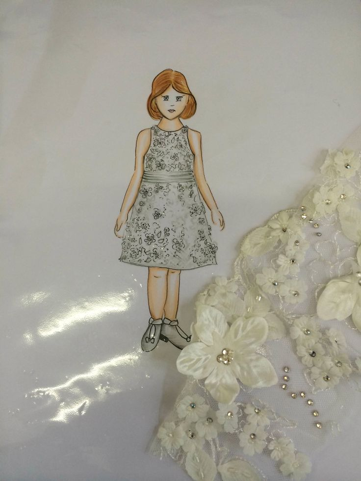 #Lovely Flower Girl/Damita de Honor #sketch  #FrancescaMiranda