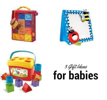 THREE Gift Ideas for Babies ON SALE: Squeeze Blocks, Crib Mirror and Shape Sorter - Saving Toward A Better Life