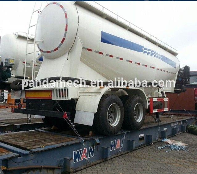 PANDA Top sale Triple-axle 65ton powder material cement bulker tank semi trailer for sale