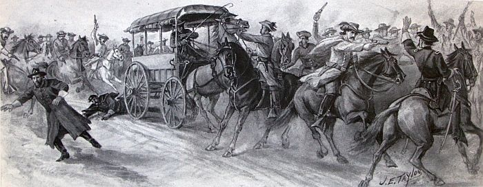 Mosby's Rangers on a raid in the Shenandoah Valley