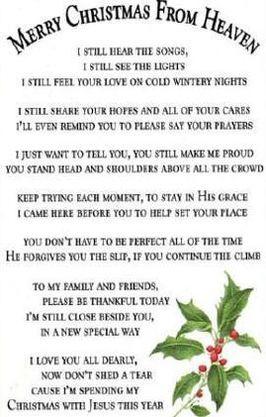 25 unique Christmas in heaven poem ideas on Pinterest  Heaven