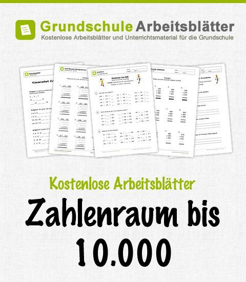 Kostenlose Arbeitsblätter und Unterrichtsmaterial zum Thema Zahlenraum bis 10.000 im Mathe-Unterricht in der Grundschule.