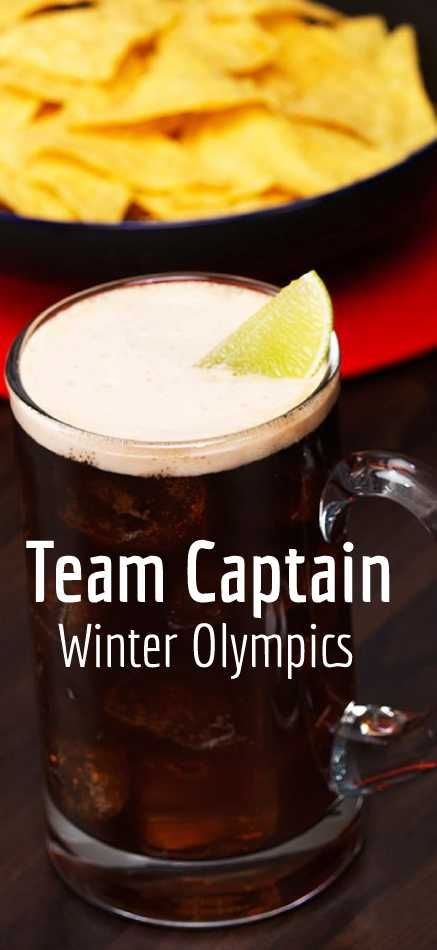 Subtly sweet but obviously delicious, the Team Captain combines the great taste of Captain Morgan Original Spiced Gold and your favourite lager plus lemonade. And it's really quick and simple to create. Just mix and serve as the accompaniment to the great sport at the Winter Olympics.#WinterOlympics #WinterCocktails #OlympicsCocktails #WinterDrinks #WinterWarmers #Winter #Mixology #CocktailRecipes #Cocktails #CocktailRecipe #Drinks #DrinkInspiration
