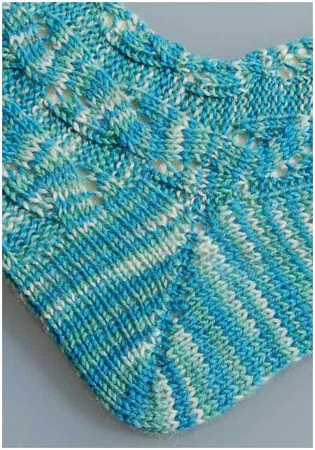 Anleitung Socken stricken Muster Aquarius