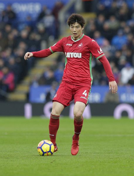 Ki Sung-Yueng of Swansea City during the Premier League match between Leicester City and Swansea City at The King Power Stadium on February 3, 2018 in Leicester, England.