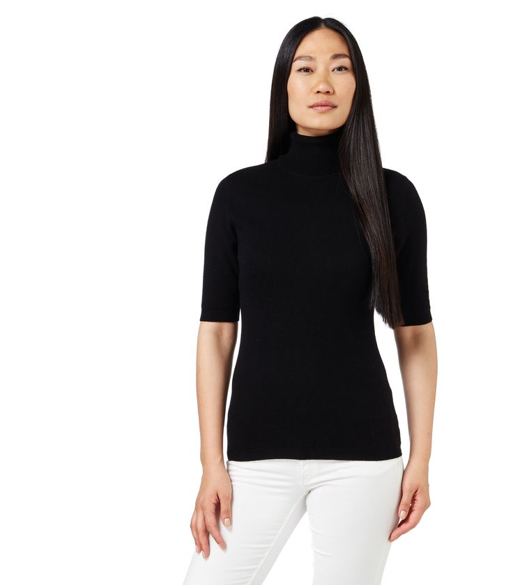 https://www.wooloverslondon.com/women/jumper/cashmerino-short-sleeve-polo-neck-black-3476