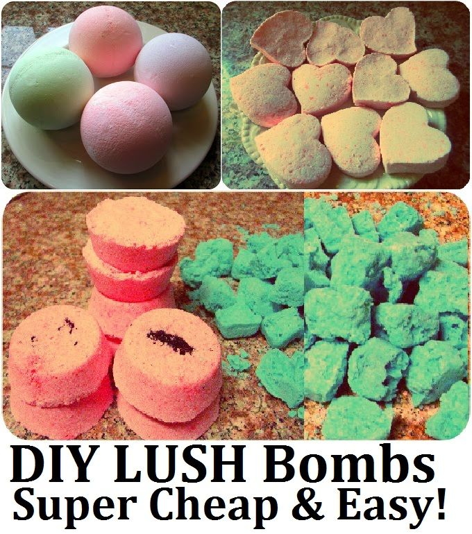 DIY LUSH Bath Bombs / Fizzies Recipe, How to Make  LUSH Products CHEAP, EASY & QUICK! More LUSH DIYs on www.MariaSself.com Homemade Gift Idea for Saint Valentine's Day, Birthday, Mother's Day or Christmas
