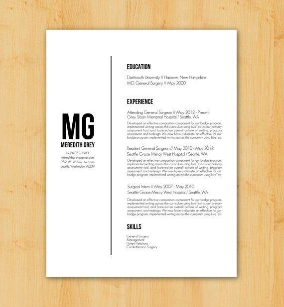Resume Writing / Resume Design: Custom Resume Writing & Design Service - Minimalist, Modern Design