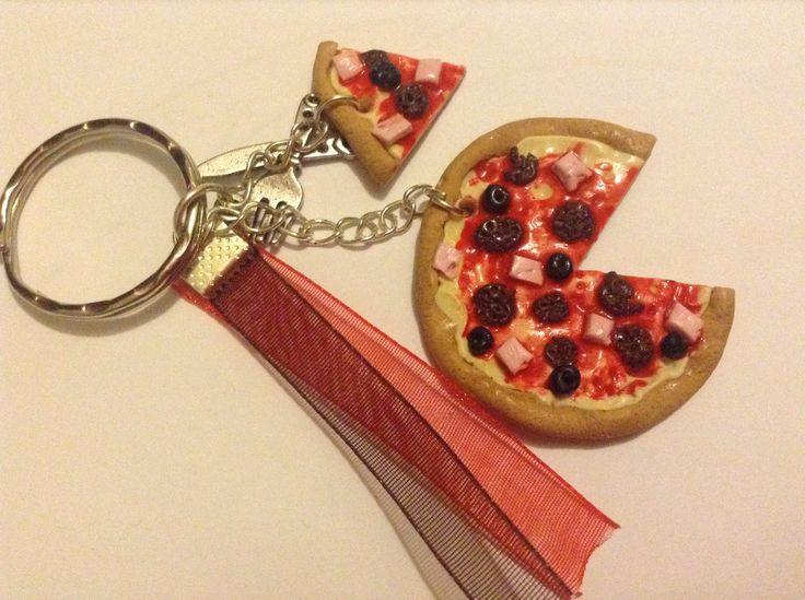 porte clés pizza fantaisie