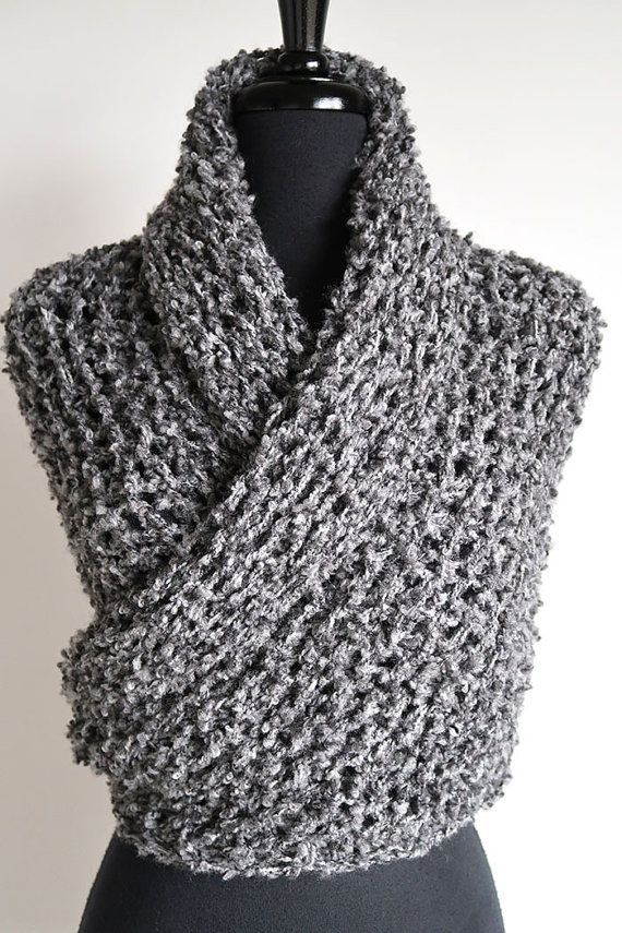 Etsy - #outlander inspired grey #shrug et, #wrap #shrug in a boucle knit  So cozy!  #affiliate