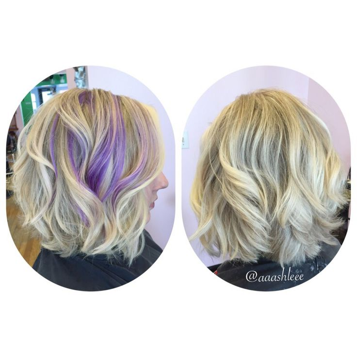 Short Blonde Platinum Hair Lob Long Bob Curly Hair
