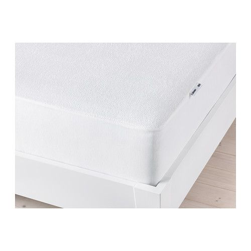 IKEA - GÖKÄRT, Mattress protector, any size mattress, , You can prolong the life of your mattress against stains and dirt with a mattress protector.Your mattress stays dry because a waterproof layer prevents any liquid from passing through.Fits mattresses with a max. height of 11
