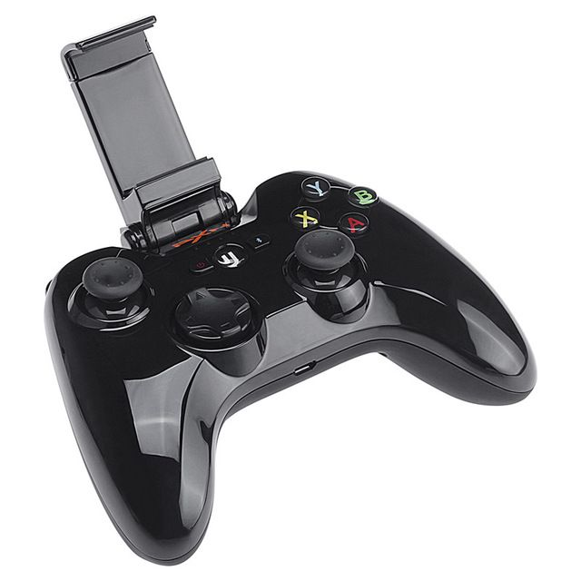PXN PXN-6603 Speedy Wireless Bluetooth Game Controller Gamepad Joystick Joypad with Phone Clamp Holder for iPhone/iPad Black US $56.98 /piece To Buy Or See Another Product Click On This Link  http://goo.gl/EuGwiH