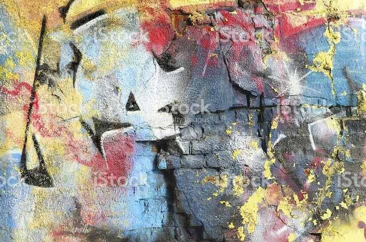 Colourful ruin royalty-free stock photo
