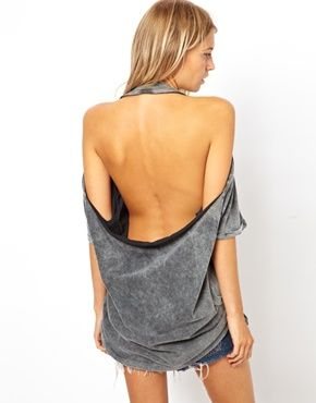 Backless Tee: looks simple enough to make out of an oversized tee