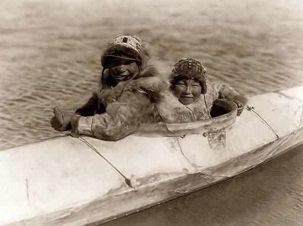 Above we show a vital photo of Eskimo Boys in a Kayak. It was made in 1929 by Edward S. Curtis.    The illustration documents Eskimos of North America.    We have compiled this collection of artwork mainly to serve as a vital educational resource. Contact curator@old-picture.com.