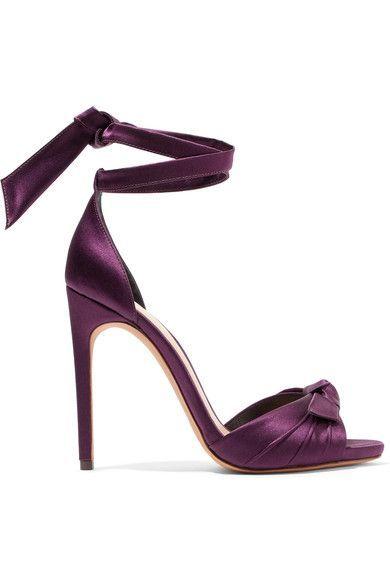 Alexandre Birman | Jessica bow-embellished satin sandals