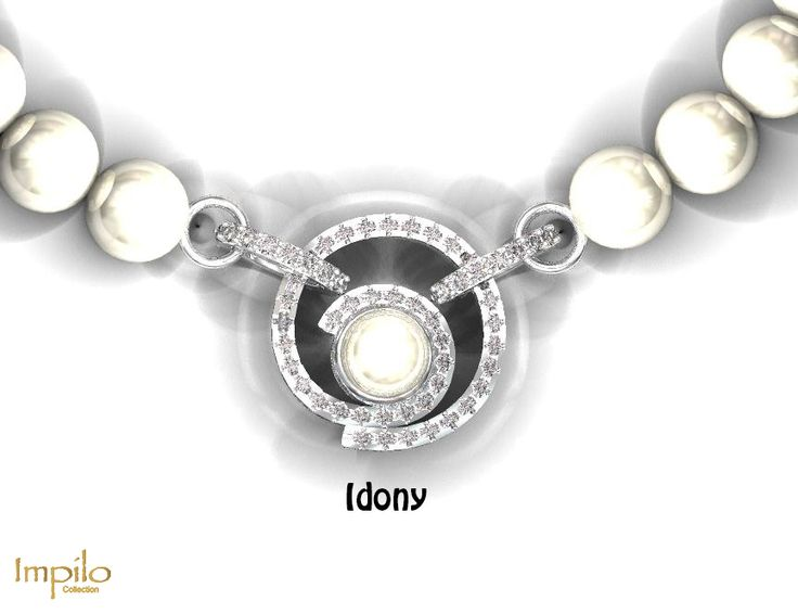 """""""Idony"""" - This beautiful natural pearl pendant has a spiral design with a pearl surrounded by round brilliant cut diamonds."""