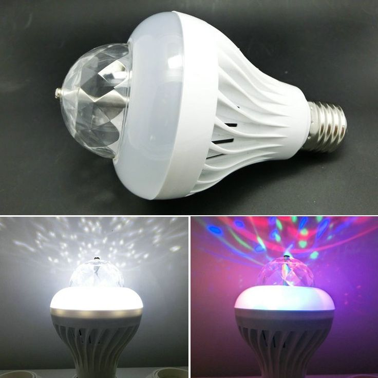 Lumiere Mini RGB LED Crystal Magic Ball Stage Effect Lighting Lamp Bulb Party Di…