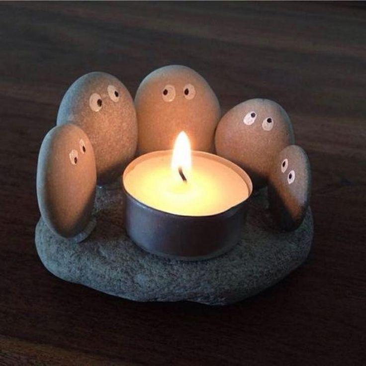 27 idées créatives pour fabriquer des décorations à partir de galets – #à #…