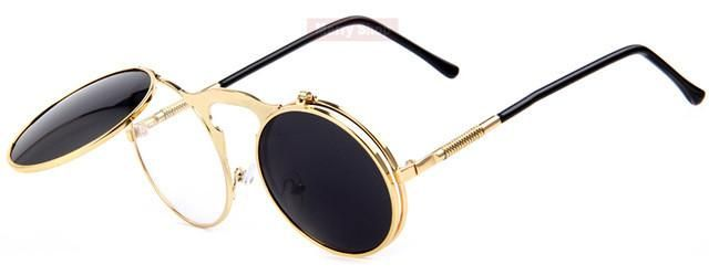 Steampunk sunglasses w/Flip-up Lenses https://www.steampunkartifacts.com/collections/steampunk-glasses