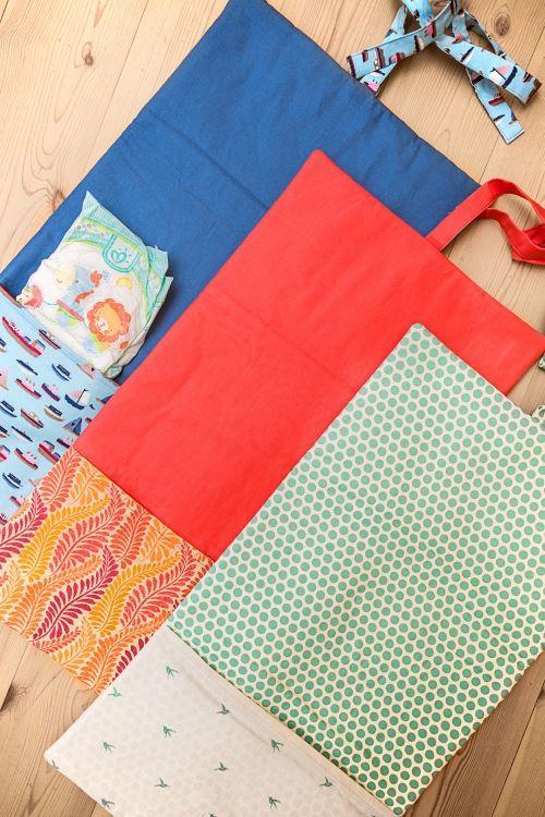 Kostenlose Anleitung: Wickelunterlage mit Tasche - Initiative Handarbeit