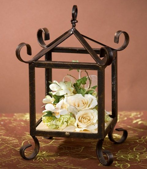 Floral Cluster in Small Lantern