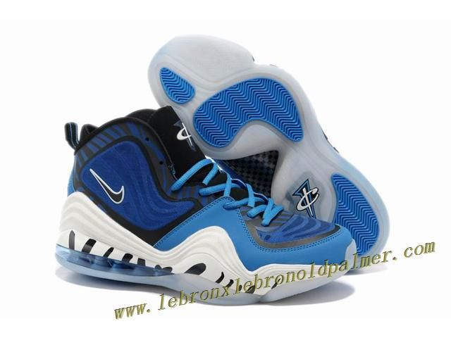 Nike Air Penny 5 Blue Black White - Penny Hardaway Shoes Discount