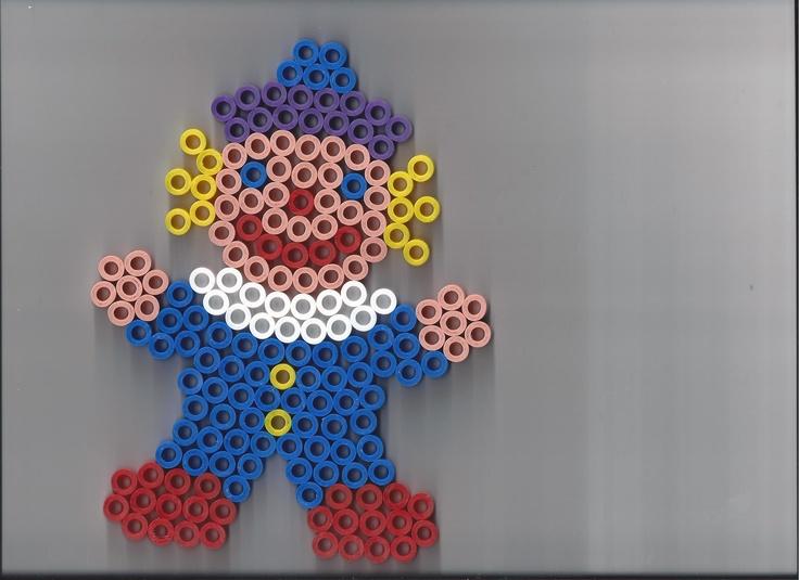Clown hama beads by yaya
