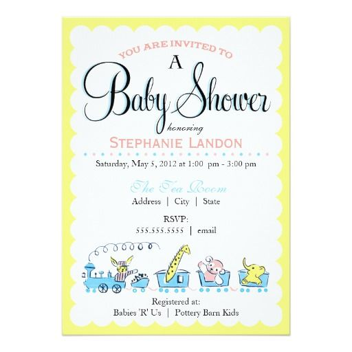 Neutral Animal Train | Retro Baby Shower Card