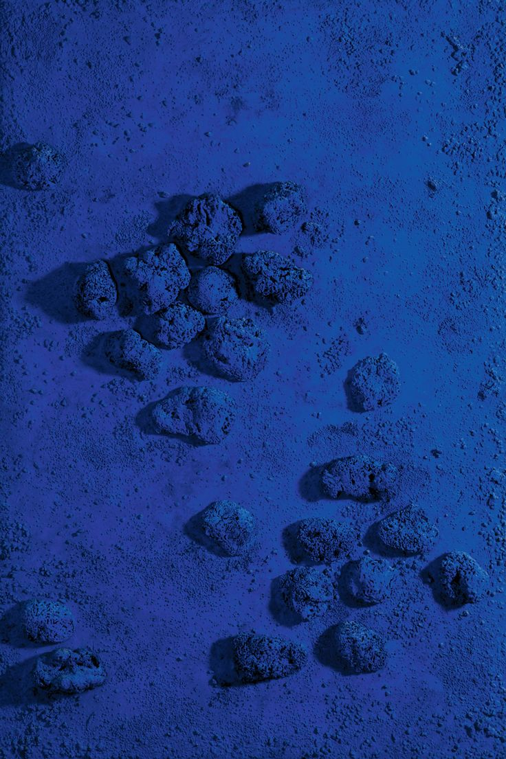 Yves Klein, Untitled (Blue Sponge Relief), 1969, dry blue pigment on wood and sponges, 230 x 154 cm (Museum Kunstpalast, Düsseldorf)