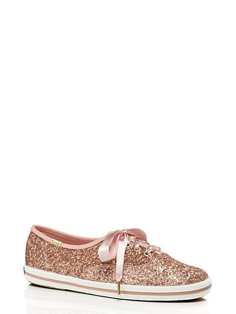 Keds for Kate Spade New York glitter sneakers, $80 on KateSpade.com.  Positively