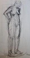 Nude studies 1 by ImaginaryLea  Linnéa Ahlberg
