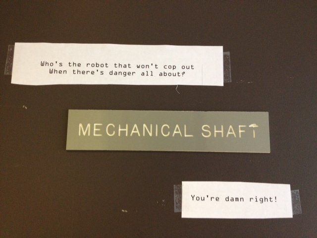 Nice Shaft joke for a Friday (or any day).