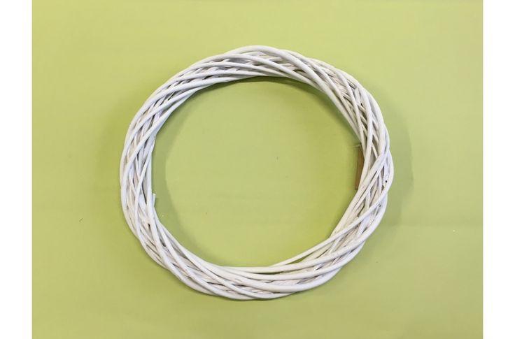 Vessző koszorú fehér 35cm - Oázis, koszorú alapok - kosarbolt