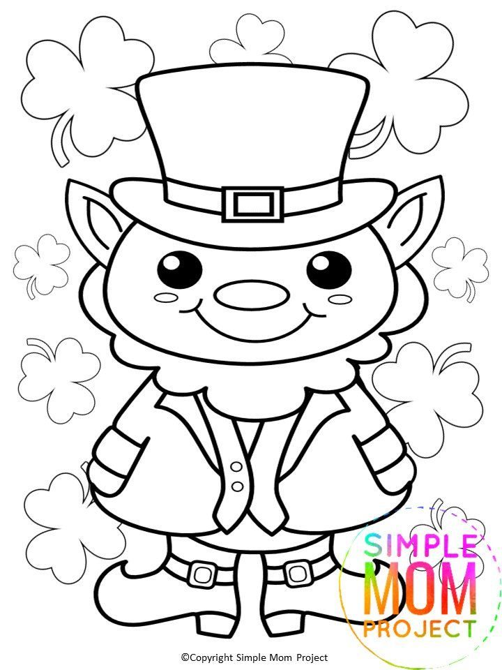 Free Printable Leprechaun St Patrick S Day Coloring Page