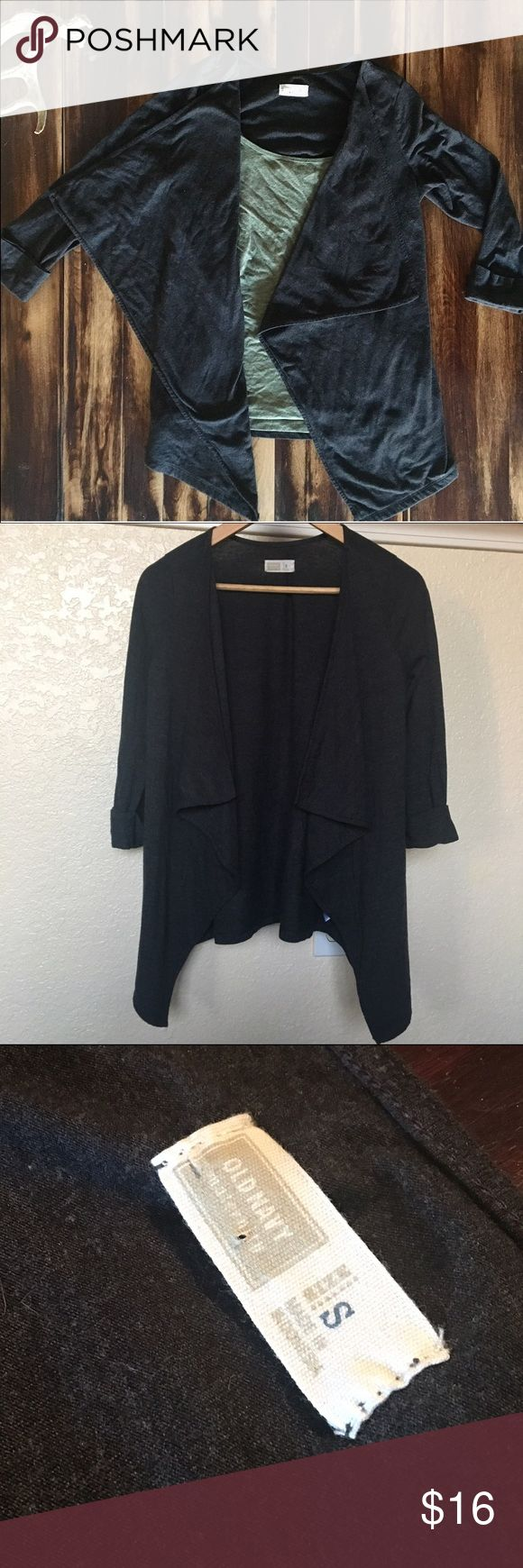 Waterfall Cardigan Draped gray/black cardigan. Cuffed sleeves. Gently worn. Hardly worn actually Old Navy Sweaters Cardigans