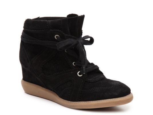Women's Brusque Suede High-Top Wedge Sneaker - Black · Shoe BootsShoesHigh  ...
