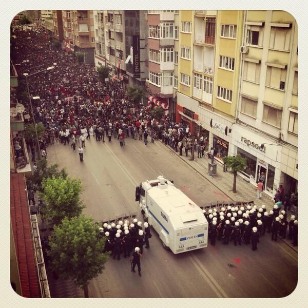 In Eskisehir, people vs Police  #occupygezi #direngeziparki #occupyturkey