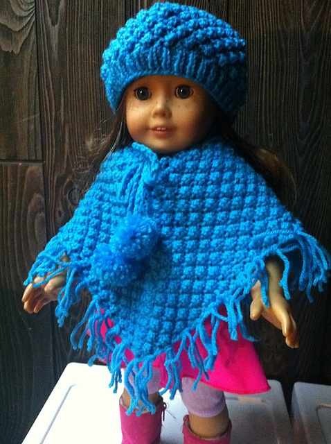 Knitting Pattern For Dolls Poncho : 1000+ images about american girl doll knitting ponchos ...