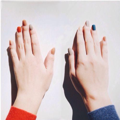 Muted Jewel-Tone Nails