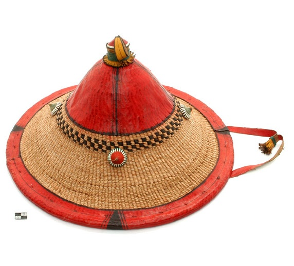 Africa   Fulani (Peul) hat from the Mopti region of Mali   Basketry and leather   20th century