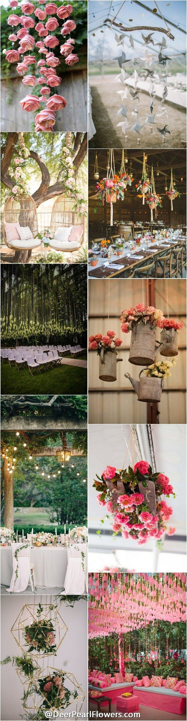 ideas for rustic wedding reception%0A Trends We LOVE     Hanging Wedding Decor Ideas