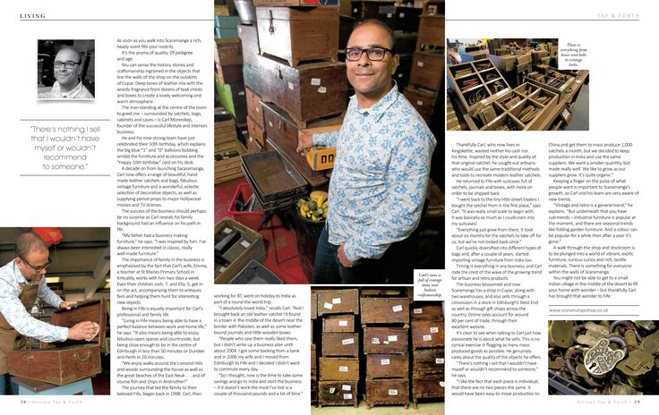 A story about owner Carl in Living Magazine