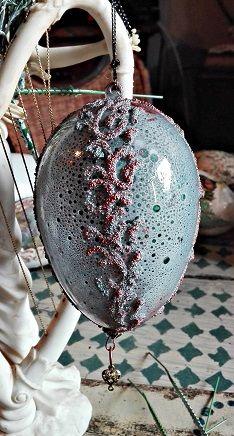 jajko akrylowe z reliefami