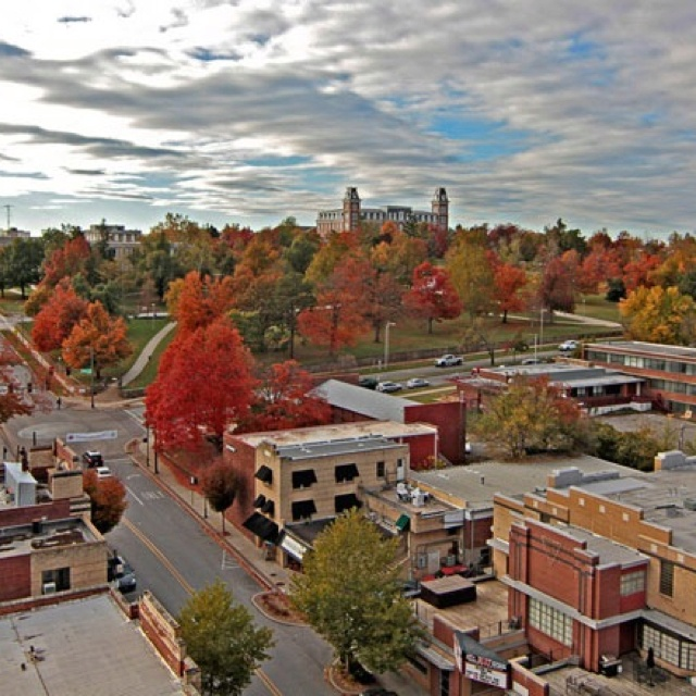 Ole Main - University of Arkansas  Fayetteville is one of the prettiest places to be in the Fall