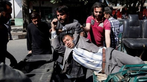 A powerful vehicle bomb has hit the diplomatic area of the Afghan capital Kabul killing at least 80 people and injuring 350.  It struck near Zanbaq Square in the heavily fortified zone with civilians said to be the main casualties.  The morning rush-hour blast created a massive crater and blew out windows and doors hundreds of metres away.  The Taliban have denied carrying out the attack. There has been no word so far from so-called Islamic State.  Both groups have been behind recent attacks…