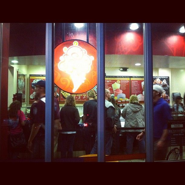 Coldstone Creamery after a Bulldog basketball win