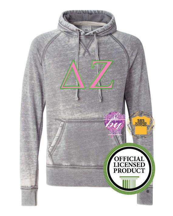 Delta Zeta Quarter Zip Sweatshirt - Greek Letters Pullover - Delta Zeta - DZ Sorority 1/4 Zip Up - DZ Pullover - DZ RduF669E7